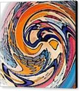 Digital Dunkin Canvas Print by Sarah Loft