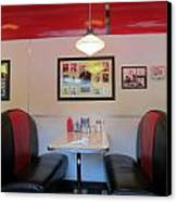 Diner Booth Canvas Print