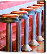 Diner - V1 Canvas Print by Wingsdomain Art and Photography