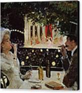 Dinner At Les Ambassadeurs Canvas Print