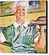 Dinner Betty Canvas Print by Linda Vaughon