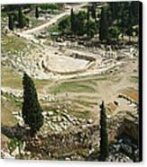 Dionysus Amphitheater Canvas Print