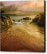 Display At Leas Foot Canvas Print by Mark Leader