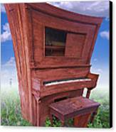 Distorted Upright Piano Canvas Print