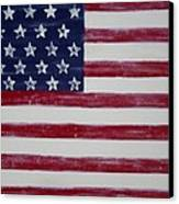Distressed American Flag Canvas Print by Holly Anderson