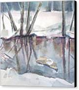 Ditch Pool April Canvas Print by Grace Keown