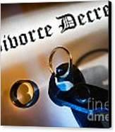 Divorce Decree Canvas Print