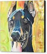 Doberman Canvas Print by PainterArtist FIN