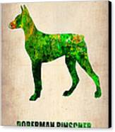 Doberman Pinscher Poster Canvas Print