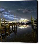 Dock Of The Bay Canvas Print by Bob Jackson