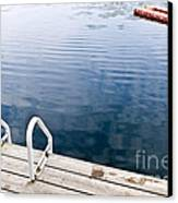 Dock On Calm Summer Lake Canvas Print