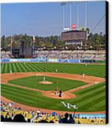 Dodger Stadium Panorama Canvas Print by Eddie Yerkish