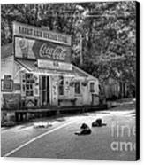 Dog Day Afternoon Bw Canvas Print