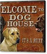 Dog House Canvas Print by JQ Licensing