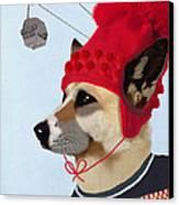 Dog In A Ski Jumper Canvas Print