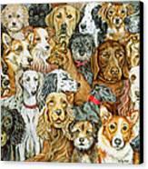 Dog Spread Canvas Print by Ditz