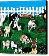 Doggy Daycare Canvas Print by LCS Art