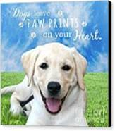 Dogs Leave Paw Prints On Your Heart Canvas Print
