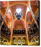 Dohany Synagogue In Budapest Canvas Print by Madeline Ellis