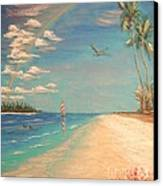Dolphin Bay Canvas Print by The Beach  Dreamer