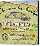 Domaine Des Averlys Canvas Print by Allen Sheffield