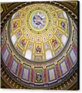Dome Interior Of The St Stephen Basilica In Budapest Canvas Print