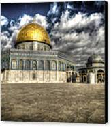 Dome Of The Rock Closeup Hdr Canvas Print