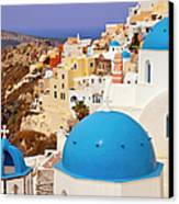 Domes Of Santorini Canvas Print