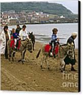 Donkey Ride Gb 1980s Canvas Print by David Davies