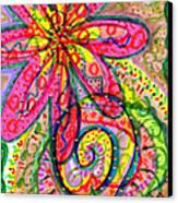 Doodle Flowers Canvas Print