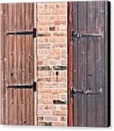 Door Hinges Canvas Print by Tom Gowanlock