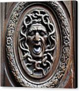 Door In Paris Medusa Canvas Print by A Morddel