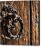 Door Knocker Canvas Print by Heather Applegate