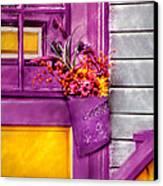 Door - Lavender Canvas Print by Mike Savad