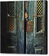 Door Peeking Canvas Print by Carlos Caetano