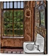 Dormer And Bathroom Canvas Print by Susan Candelario