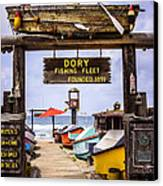 Dory Fishing Fleet Market Newport Beach California Canvas Print by Paul Velgos
