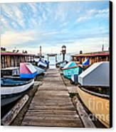 Dory Fishing Fleet Newport Beach California Canvas Print by Paul Velgos