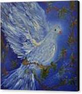 Dove Spirit Of Peace Canvas Print by Louise Burkhardt