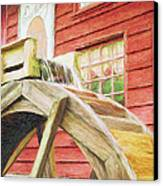Down By The Old Mill Canvas Print by Jeff Kolker