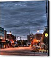 Down Town Granite Falls At Six Thirty In The Morning Canvas Print by Robert Loe