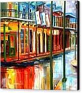 Downpour On Bourbon Street Canvas Print