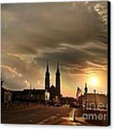 Downtown After The Rain Canvas Print