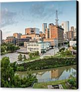 Downtown Houston From Uh-d. September Canvas Print by Silvio Ligutti