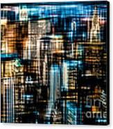 Downtown II - Dark Canvas Print by Hannes Cmarits