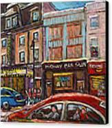 Downtown Montreal Streetscene Canvas Print
