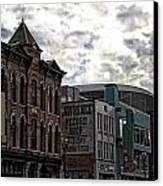 Downtown Nashville Canvas Print by Dan Sproul