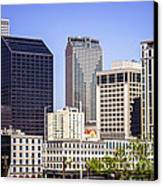 Downtown New Orleans Buildings Canvas Print by Paul Velgos