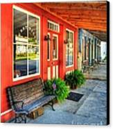 Downtown Perryville Canvas Print by Mel Steinhauer