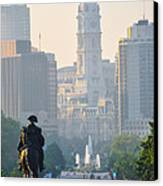 Downtown Philadelphia - Benjamin Franklin Parkway Canvas Print